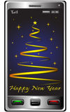New Year and phone Royalty Free Stock Photo