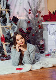 New Year pictures, Pattern on navy year, Christmas photo, The girl, a beautiful girl portrait of a girl, fashion model, New Year, Stock Photo