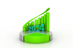 New Year 2014 and pie chart Stock Images