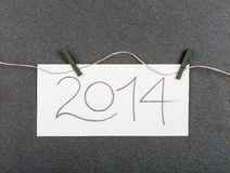 The new year 2014 Stock Photos