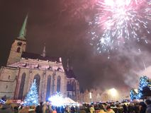New year in Pilsen Royalty Free Stock Images