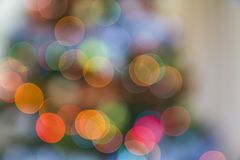 New Year pine tree lights blurred bokeh background royalty free stock image