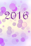 New year 2016 Royalty Free Stock Photography