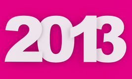 2013 - New year. In pink and white Stock Images