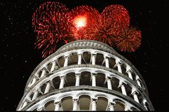 New Year at Pisa Royalty Free Stock Photo