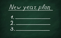 New year plan Royalty Free Stock Photography