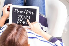 2019 New Year plan royalty free stock photo