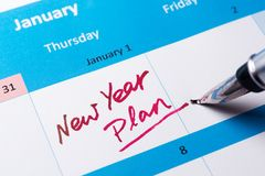 New year plan Royalty Free Stock Photo