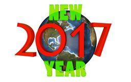 New 2017 year on planet. Earth Stock Image