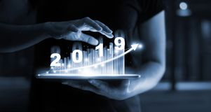 2019 New year planning business and financial concept. stock photo