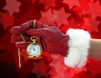 New year pocket clock Stock Photos