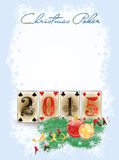 New 2015 year poker cards Royalty Free Stock Image