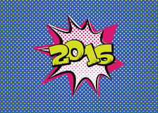 New Year of 2016. 2016 in pop art style for the new year to come Stock Photography