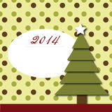New year 2014 post card Stock Image