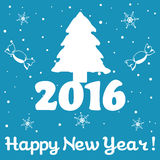 New Year postcard Royalty Free Stock Photography