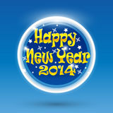 New Year 2014 postcard, brochure in circle, toy Stock Photo