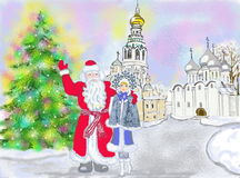 New Year postcard Stock Image