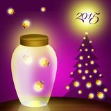 New year postcard Royalty Free Stock Images