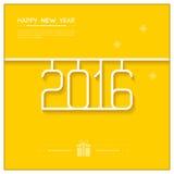 New Year Poster 2016 Line Art Design Vector Stock Photo