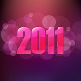 New Year Poster. Vector Royalty Free Stock Image