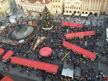 New Year in Prague Stock Photography