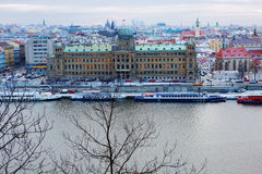New Year In Prague. The view from the height. Stock Photography