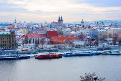 New Year In Prague. The view from the height. Stock Photos