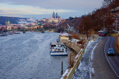 New Year In Prague. The view from the height. Stock Photo