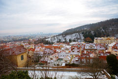 New Year In Prague. The view from the height. Stock Images