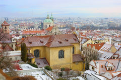New Year In Prague. The view from the height. Royalty Free Stock Photos