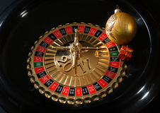 New Year Presents on the roulette wheel.  Royalty Free Stock Photo