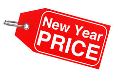 New Year price tag Royalty Free Stock Photo