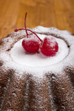 New Year Pudding for tea Stock Photos