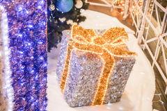 New Year purple present Stock Photography