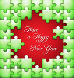 New Year puzzle  background Royalty Free Stock Image