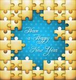 New Year puzzle  background Stock Image