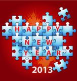 New Year puzzle  background Royalty Free Stock Photo