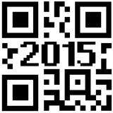 New year qrcode Royalty Free Stock Images