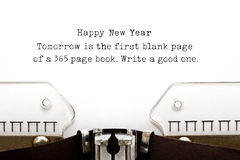 New Year Quote Typewriter Stock Photos