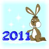 New Year Rabbit. Royalty Free Stock Image