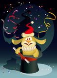 New Year Rabbit the Magician Stock Photos