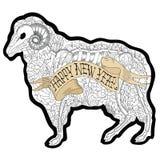 New Year Ram Stock Image