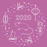 New Year Rat Symbol 2020 Chinese Japanese Calendar Royalty Free Stock Image