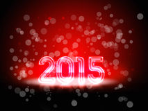 New Year 2015 red. Backgroud with a colorful number of 2015 in red Stock Photos