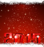 2015 new year red background. Stock Image