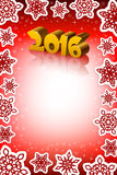 New Year 2016 red background. An editable vector illustration of New 2016 Year numbers on a red vertical background Stock Images