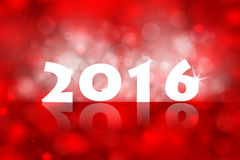 New year 2016 red color background illustration Stock Images