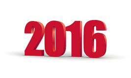 The new year 2016. Red 3d perspective inscription. Vector EPS 10. The new year 2016. Red 3d perspective inscription. Vector EPS10 Stock Image
