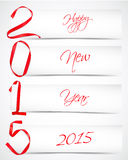 New year. Red ribbons greeting card Royalty Free Stock Photo