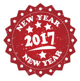 New year 2017 red stamp. Isolated on white background Royalty Free Stock Image